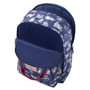 Cath Kidston Squiggle Cats Multi Pocket Backpack