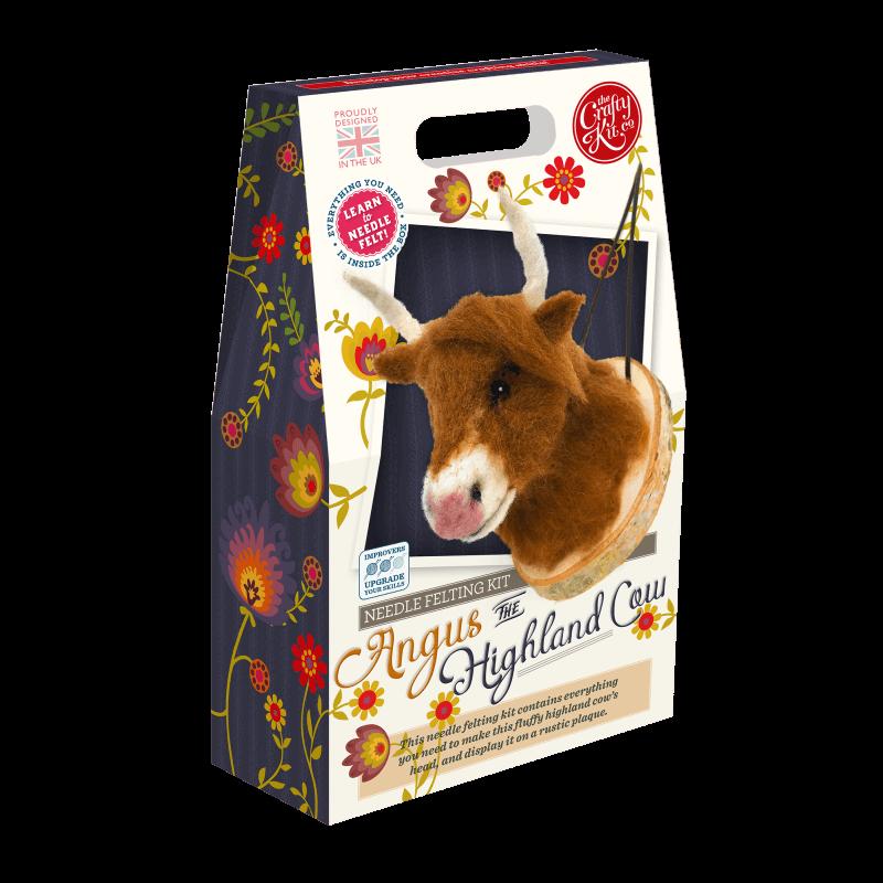 Angus the Highland Cow Needle Felting Kit