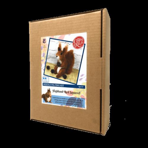 Highland Red Squirrel Needle Felting Kit
