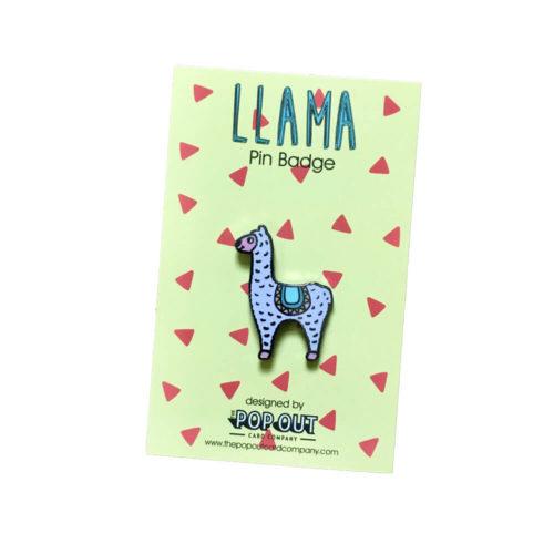 Llama Enamel Pin Badge
