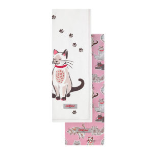 Cath Kidston Squiggle Cat Tea Towel Set of Two