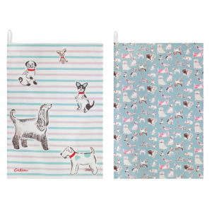 Cath Kidston Squiggle Dog Tea Towel Set of Two