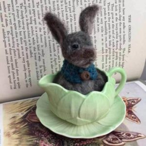 Needle Felted Bunny in Bowl - Saturday 8th June: 10am-4pm