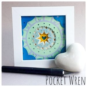 Paper Cut Layered Mandala Frames with Pocket Wren - Saturday 7th September: 2pm-5pm
