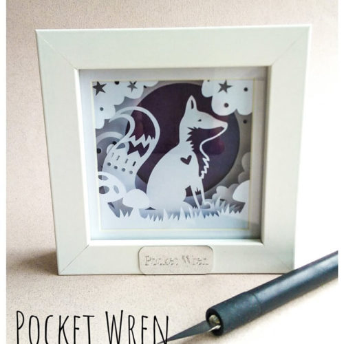 Layered Paper Cut Woodland Frames with Pocket Wren - Saturday 27th July: 2pm-5pm