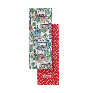 Cath Kidston Mini London View Set of Two Tea Towels