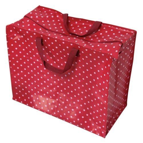 Red Retrospot Jumbo Storage Bag