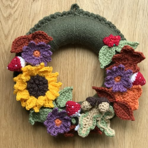 Crochet Autumn Wreath Workshop - Saturday 9th November: 10am - 4pm