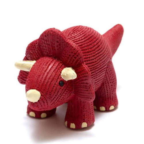 Best Years My First Triceratops Natural Rubber Dinosaur Toy Red