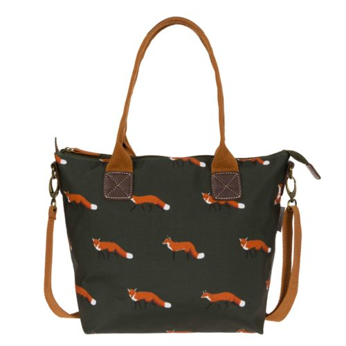 Sophie Allport Foxes Mini Oilcloth Oundle Bag
