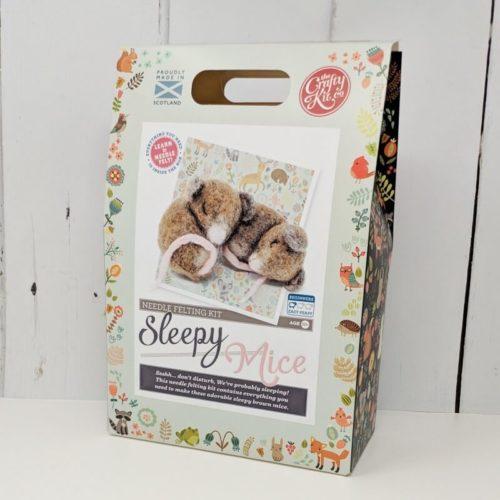 Sleepy Mice Needle Felting Kit