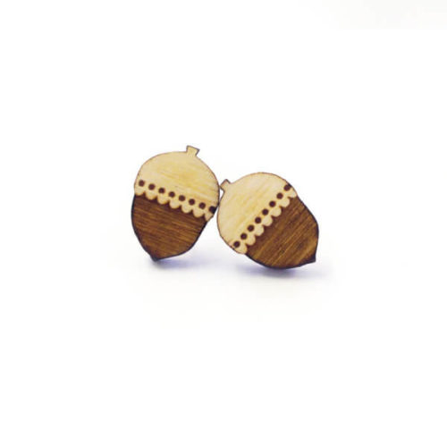 Layla Amber Woodland Acorn Earrings