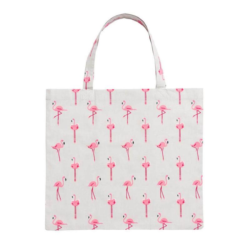 Sophie Allport Flamingos Folding Shopping Bag