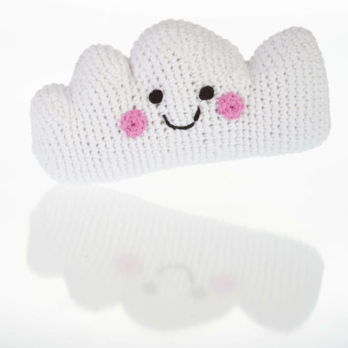Best Years Fair Trade Crochet Cotton Friendly Cloud Baby Rattle