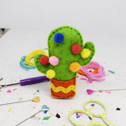 Kitsch Cactus Felt Sewing Kit