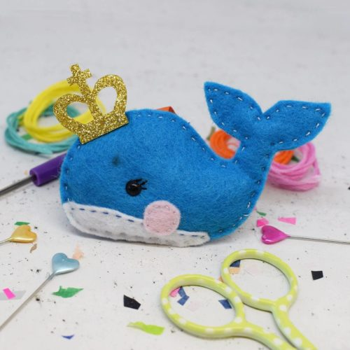 Prince Whale Felt Sewing Kit