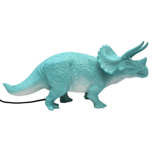 Turquoise Triceratops Plug-in Lamp