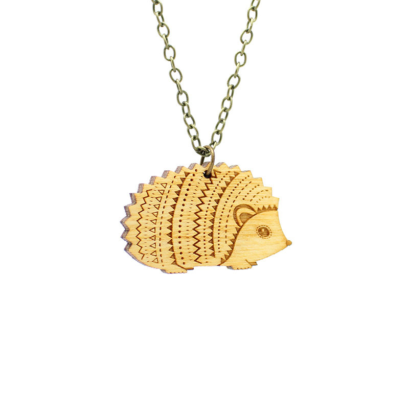 Layla Amber Hedgehog Necklace