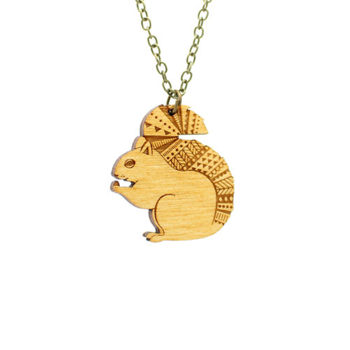 Layla Amber Squirrel Necklace