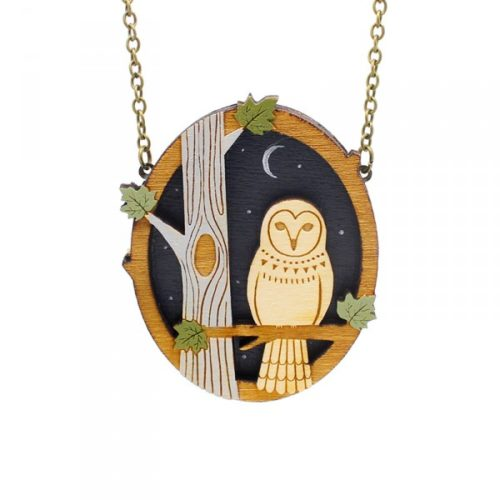 Layla Amber Night Owl Necklace