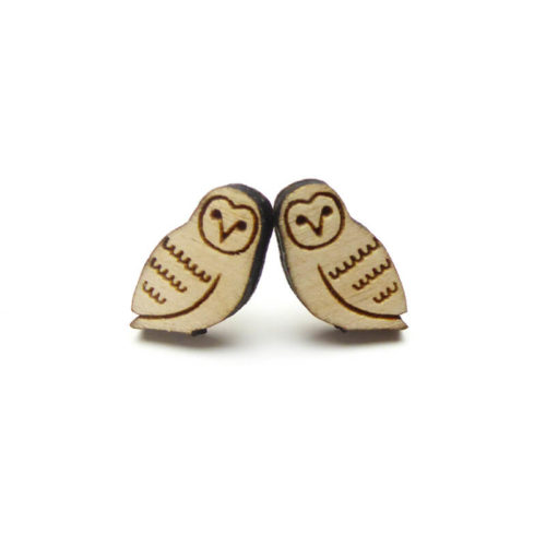 Layla Amber Woodland Owl Earrings
