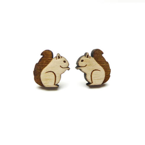 Layla Amber Woodland Squirrel Earrings