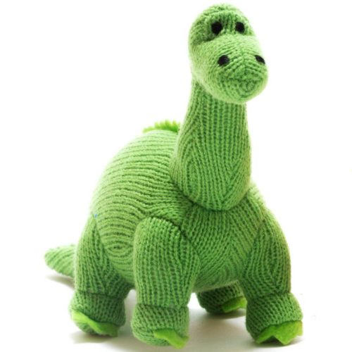 Best Years Small Green Knitted Diplodocus Rattle