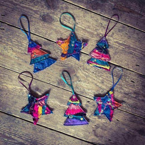 Sari Ribbon & Silk Christmas Decoration Workshop - Thursday 5th December: 6pm-9pm