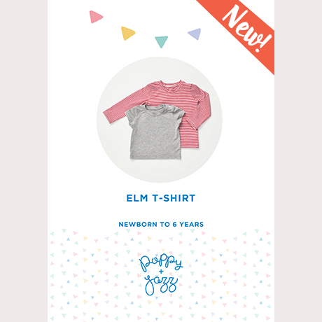 Poppy & Jazz Elm T-Shirt Sewing Pattern