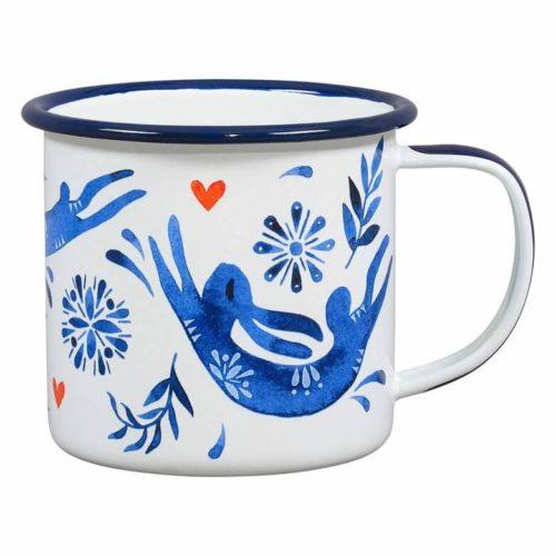 Folklore Enamel Hare Mug