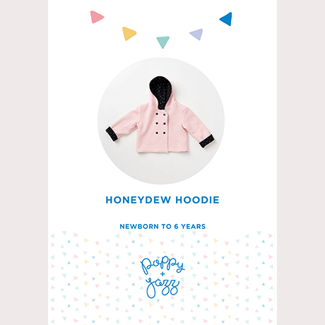 Poppy & Jazz Honeydew Hoodie Sewing Pattern