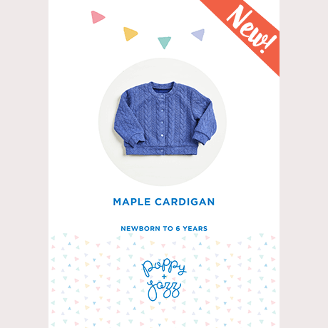 Poppy & Jazz Maple Cardigan Sewing Pattern