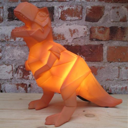 Orange T-Rex Plug-in Lamp