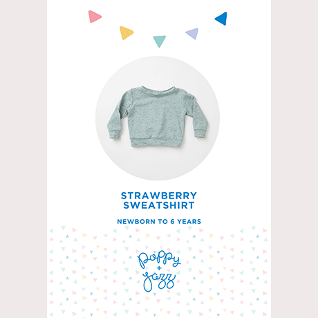 Poppy & Jazz Strawberry Sweatshirt Sewing Pattern