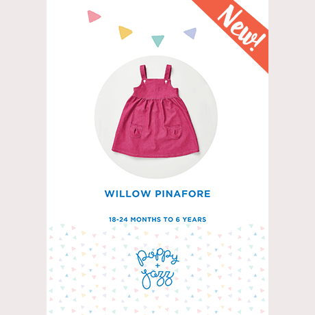 Poppy & Jazz Willow Pinafore Sewing Pattern