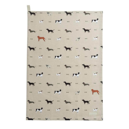 Sophie Allport Woof Tea Towel