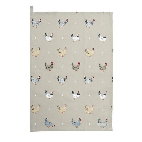 Sophie Allport Lay a Little Egg Hen Tea Towel