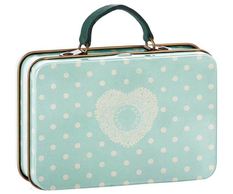 Maileg Mint with Cream Spot Suitcase