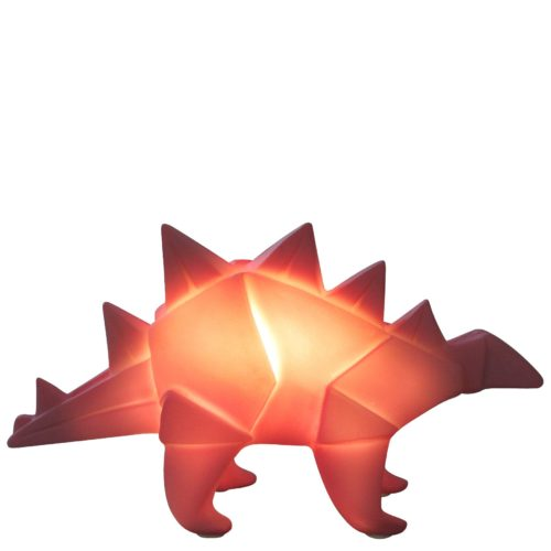 Pink Origami Stegosaurus LED Lamp