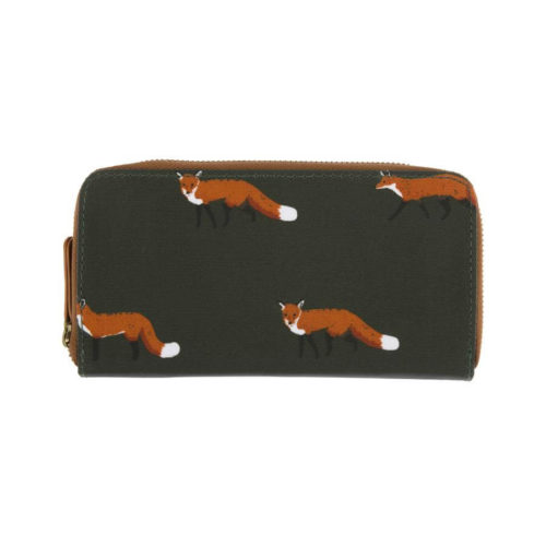 Sophie Allport Foxes Oilcloth Zipped Purse