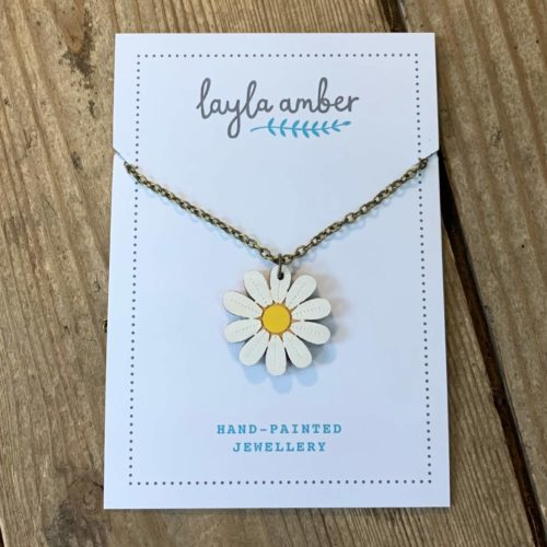 Layla Amber Daisy Mini Flower Necklace