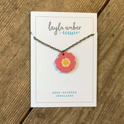 Layla Amber Pink Mini Flower Necklace