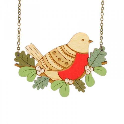Layla Amber Winter Robin Necklace
