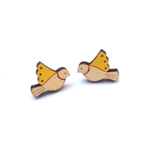 Layla Amber Yellow Bird Earrings