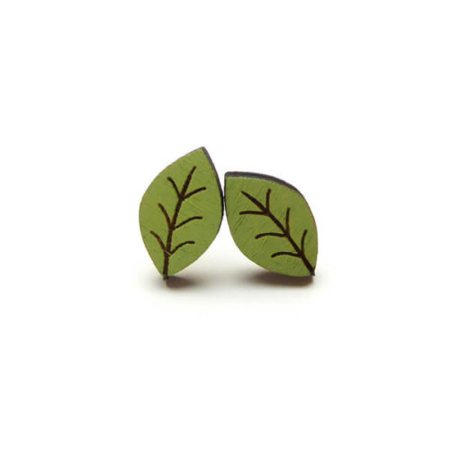 Layla Amber Beech Leaf Earrings