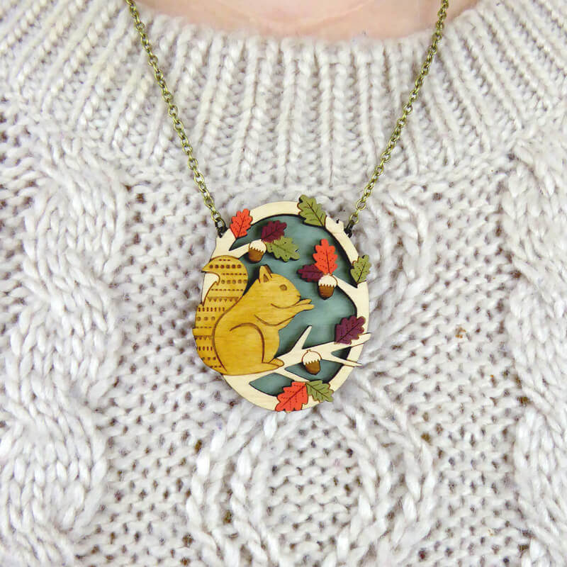 Layla Amber Hungry Squirrels Necklace