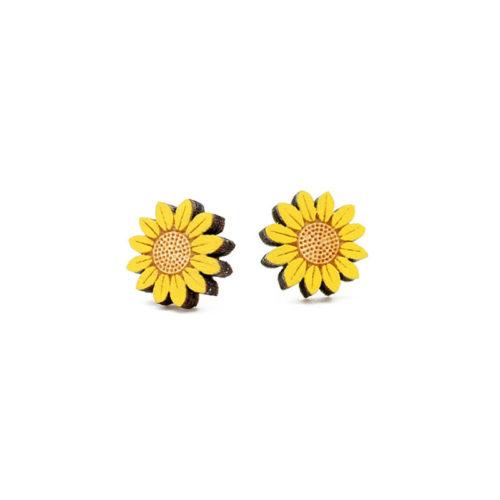 Layla Amber Sunflower Earrings