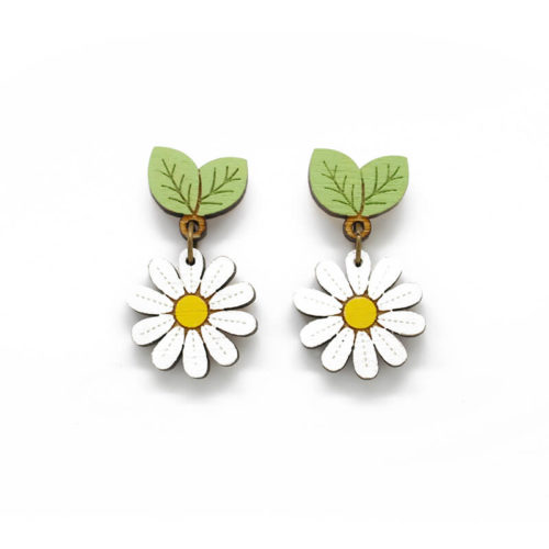 Layla Amber Wild Daisy Drop Stud Earrings