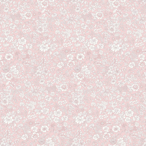 Liberty Fabrics - Flower Show Spring: Emily Silhouette Soft Pink