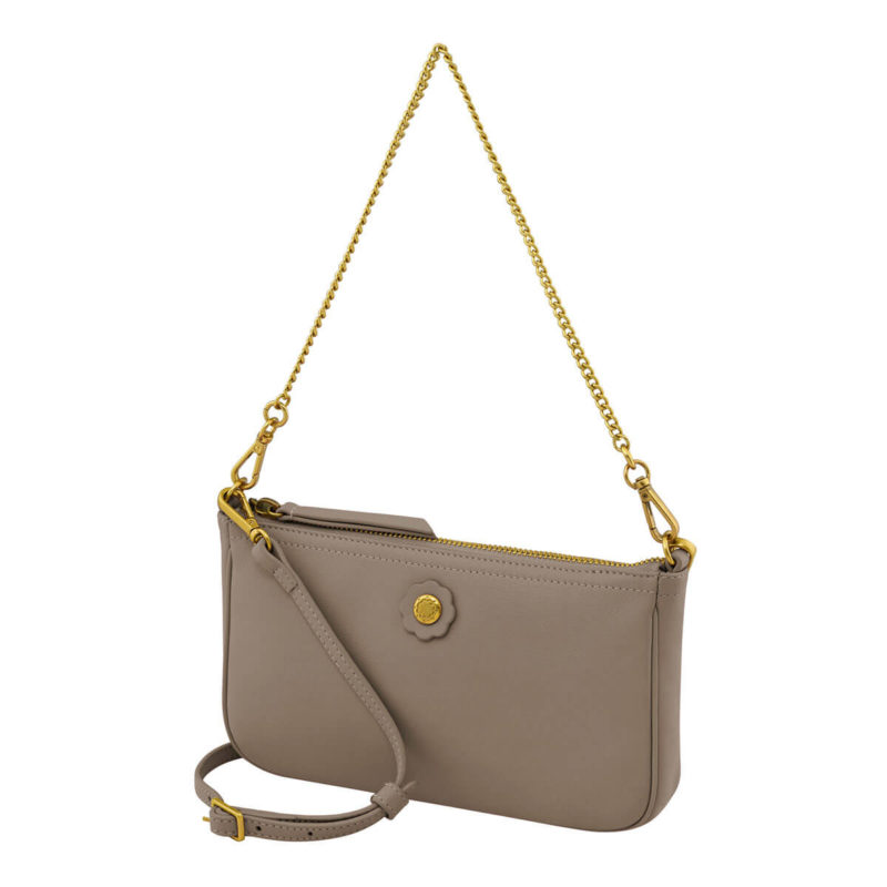 Cath Kidston Nappa Leather Demi Bag Taupe